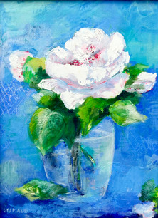 Fleur bleue / 15X22 / vendu