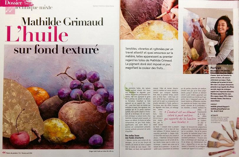 mathide grimaud magazine plaisir de peindre