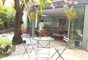 Cour de peinture atelier Camus Nantes