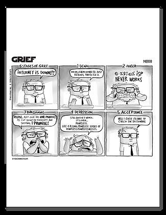 Sysadminotaur Laminated Strip 08 - Grief