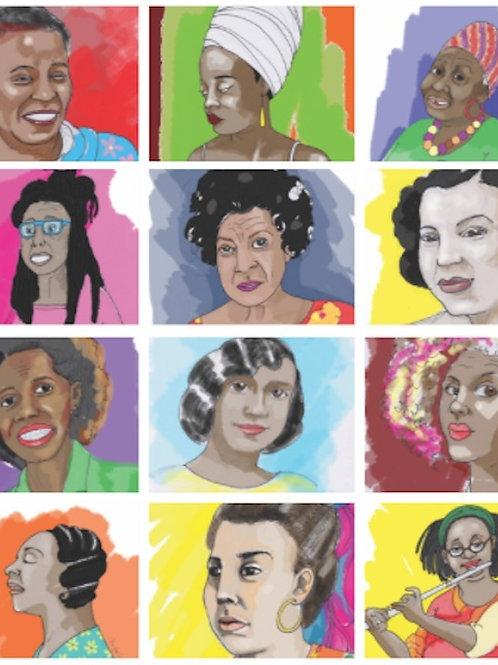 Digital Black Classical Composers Portraits