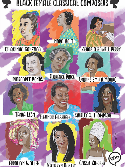 Black Female Composer Poster