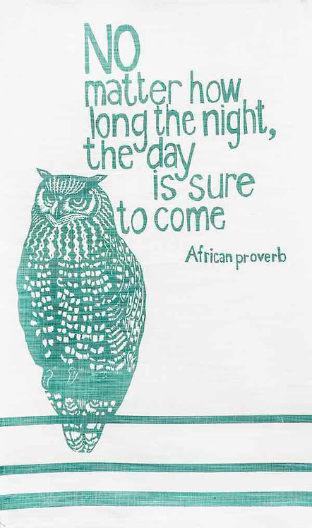african proverb owl t-towel