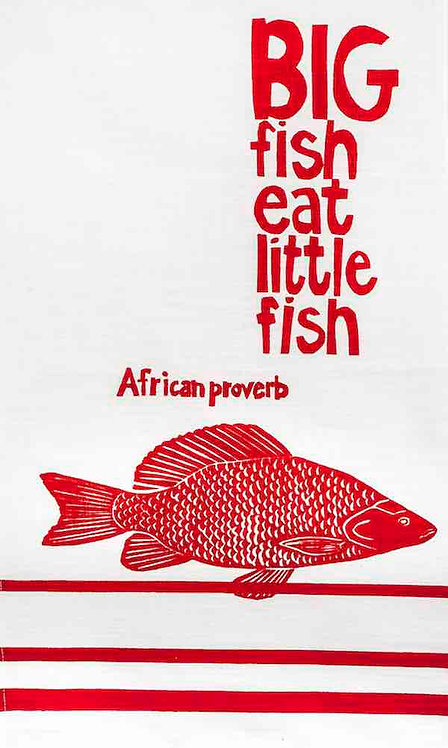 african proverb fish t- towel
