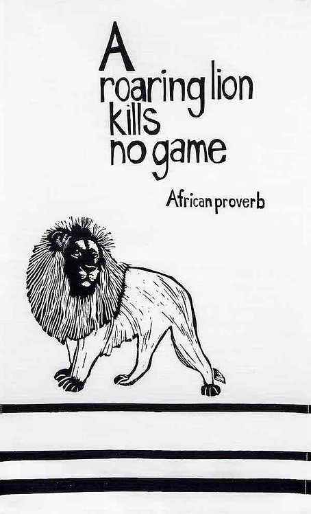 african proverb lion t-towel