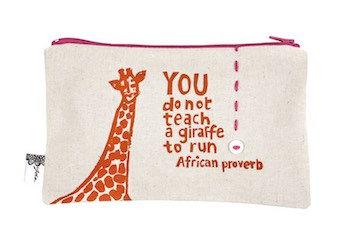 purse– giraffe cream