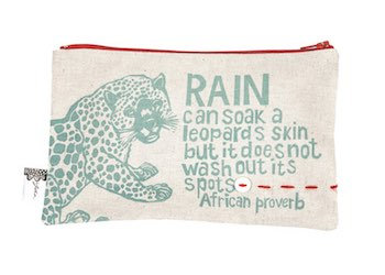 purse– leopard cream
