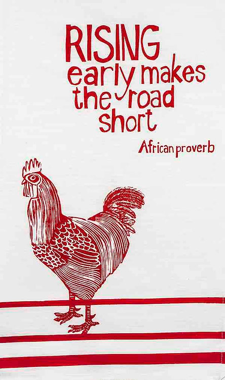 african proverb rooster t-towel