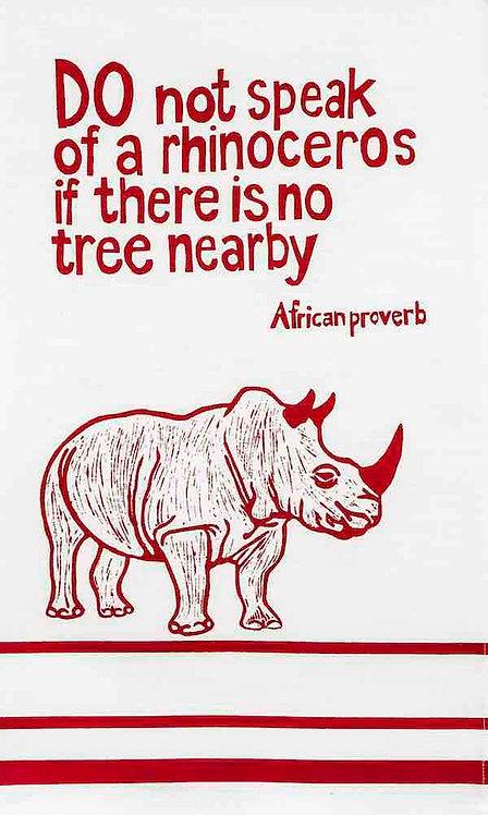 african proverb rhino