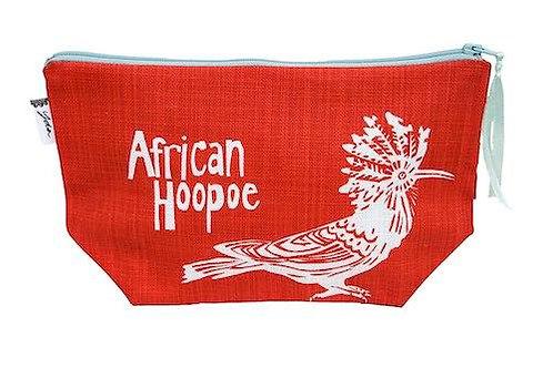 african hoopoe makeup purse