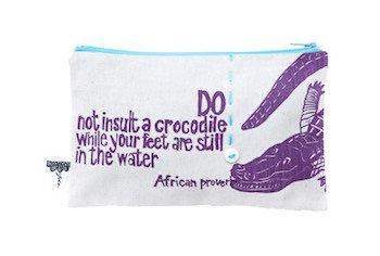 purse– crocodile cream