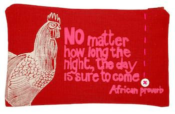 purse– rooster red