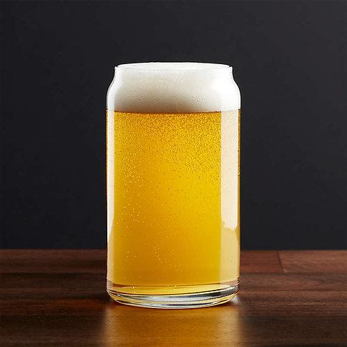 Beer Can -Logo- Beer Glass