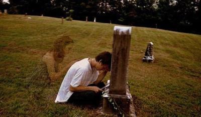 Sorg, grav, gravsten, ledsen, kvinna, man, pojke, flicka