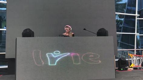 DJ MIss Eddy Pink as Irie Weekend's Beach Bash Headlining DJ