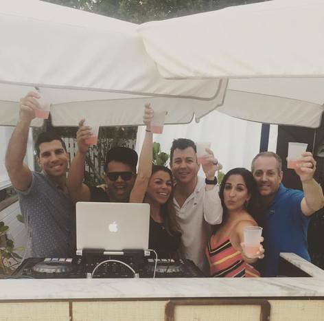 Guest DJ Miss Eddy Pink at Nautilis Cabana South Beach