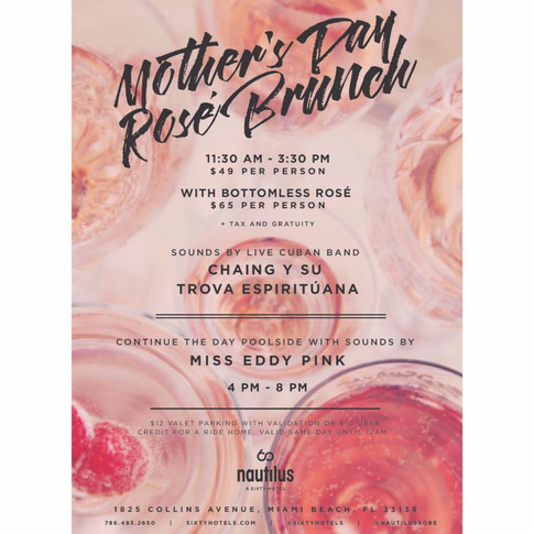 Mother's Day Brunch DJ Set at Nautilus Cabana South Beach