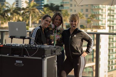 Guest DJ Miss Eddy Pink at SLS Brickell