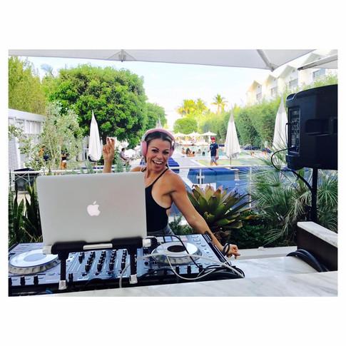 Guest DJ Miss Eddy Pink at Nautilus Cabana South Beach
