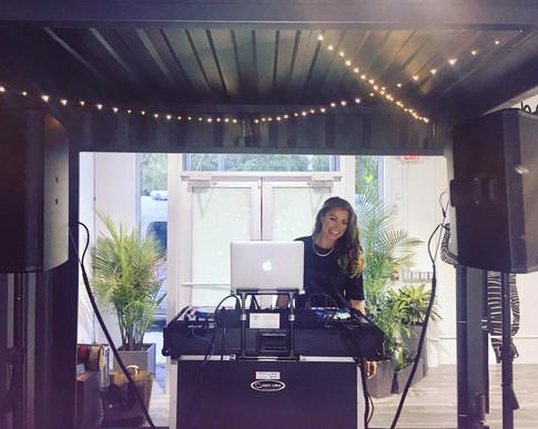DJ Miss Eddy Pink in Wynwood Art District