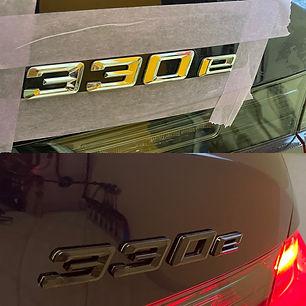 BMW 330e - Accenten