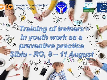 Training of Trainers in youth work as a preventive practice: call for participants