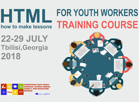 """InYouS. """"HTML for Youth Workers"""" TC will take place in Tbilisi"""