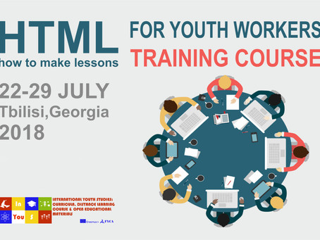 "InYouS. ""HTML for Youth Workers"" TC will take place in Tbilisi"