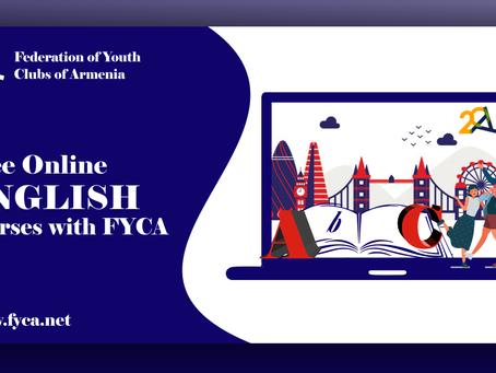 FYCA-ն մեկնարկում է «Անգլերեն երիտասարդների համար» անվճար առցանց դասընթացը🥳