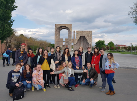 """European  youngsters  were the witnesses of the """" Velvet Revolution""""  in  Armenia"""