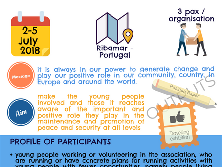 Call for participants for our youth peace camp in Portugal