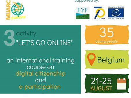 "Call for participants. ""Let's go online"" TC in Belgium"