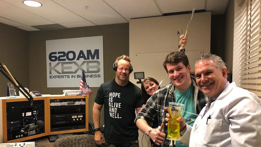 Dr. Roland and KEXB radio