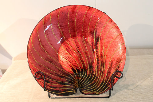 Plate - Red / Gold