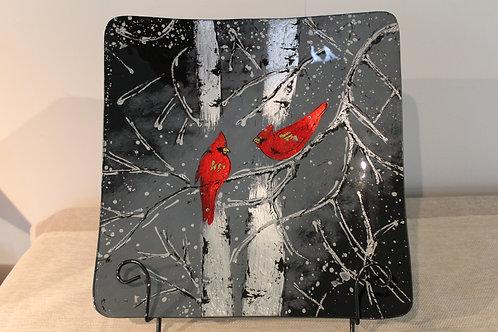 Plate - Red Bird - 40 cm