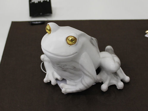 'Poly Marble' Frog with gold eyes