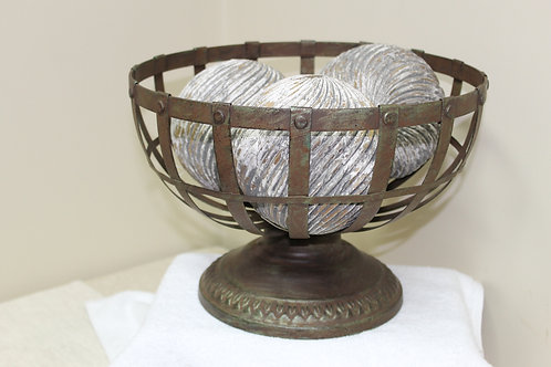 Rustic Metal Fruit Bowl