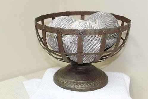 Rustic Metal Fruit Bowl
