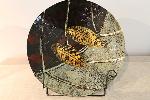 Plate - Glass with Gold Leaves