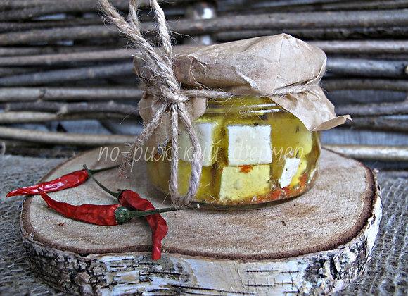 """Сыр """"Фета"""" в оливковом масле с травами 250 г (цена за 1 шт.)"""