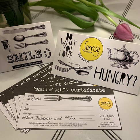 Sorriso Kitchen offers gift cards