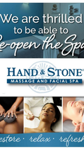 Woohoo! Hand & Stone is open for massages!