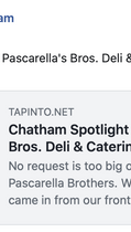 Chatham Spotlight On: Pascarella's Bros. Deli & Catering