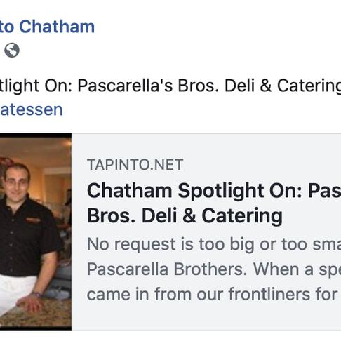 Chatham Spotlight On: Pascarella's Bros. Deli & Catering
