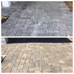 Before and after of sealed pavers