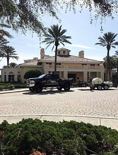 Dykes Pressure Cleaning Truck in New Smyrna Beach Florida