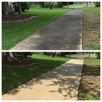 HOA sidewalk before and after