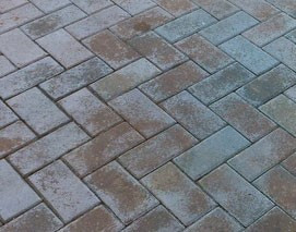 Efflorescence on paver driveway
