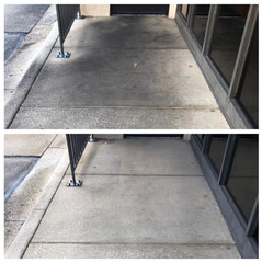Chick-Fil-A walkway before and after