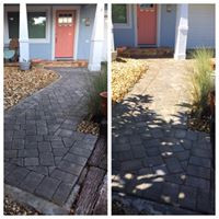 Front of house walkway sealed